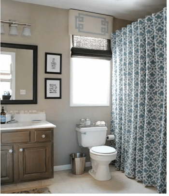 Old curtain into shower curtain DIY Repurposed Old Curtain Ideas For Your Home Decoration