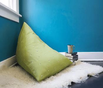 Pyramid bean bag DIY Bean Bag Chairs Ideas To Lay Down And Enjoy