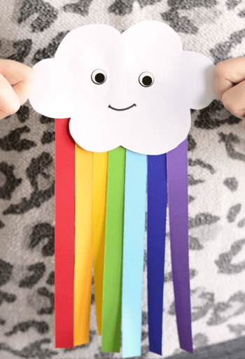 Simple construction paper rainbow craft DIY Exploring Funniest Ideas of Rainbow Craft For Your Kids