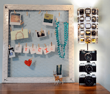 Vintage camera lamp with slide shade DIY Enchanting Ideas To Create More Light In Your Home