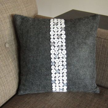 Cute accent pillow with buttons