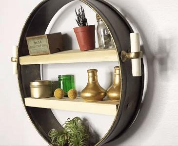 Anthropologie knockoff shelf Smart-Upgrade Repurposing Ideas Of Your Old Baking Pan