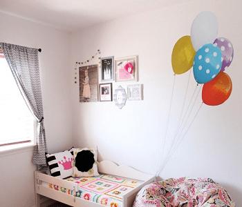 Balloon toddler bedroom DIY Toddler Bedroom Ideas For More Comfortable Spot