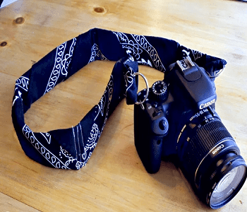 Camera strap Skillful Ideas You Can Do With Your Simple Bandana