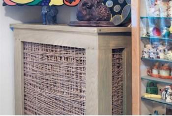 Cool string art radiator cover