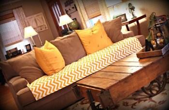 Diy bright slipcover for living room