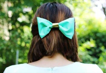 Diy fabric hair bow