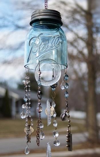 Diy mason jar wind chime