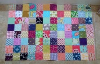 Diy patchwork bath mat
