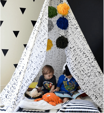 Diy repurposed old bed sheets teepee Amazing Ways To Repurpose Your Old Bed Sheets