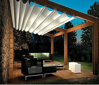 Removable awning DIY Ideas To Decorate Your Pergola For Refreshing Look