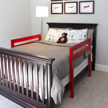 Small bed with guard rails DIY Toddler Bedroom Ideas For More Comfortable Spot