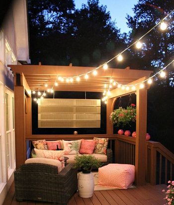 String lights ideas DIY Ideas To Decorate Your Pergola For Refreshing Look
