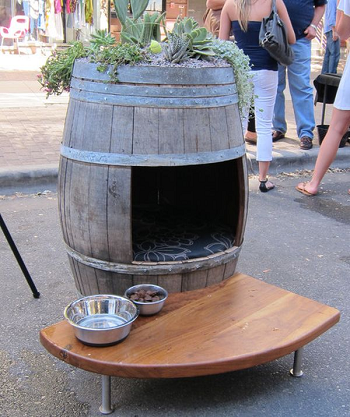 Barrel porch or terrace decoration DIY Compelling Ways To Use Wine Barrels For Decoration