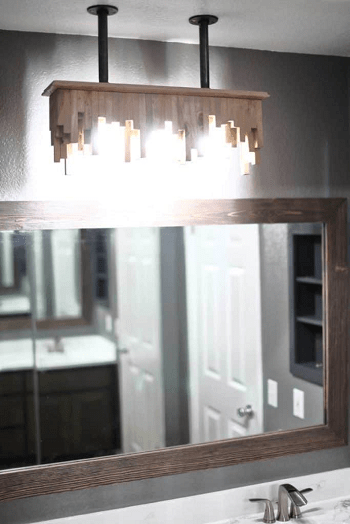Bathroom light fixture from ceiling DIY Bathroom Light Fixture You Can Easily Create At Home