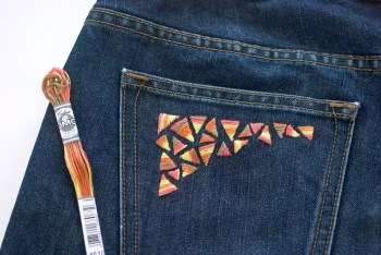 Diy embroidery jeans