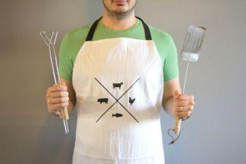 Diy manly man apron for cooker