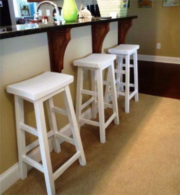 Diy white bar stools