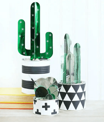 Dimensional cactus plant DIY Fake Plants That Easy To Follow For Home Decoration