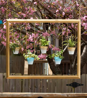 Frame hanging planter DIY Appealing Frame Ideas For Gardeners That Worth To Try