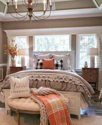 How to decorate bedroom with farmhouse style this fall 1