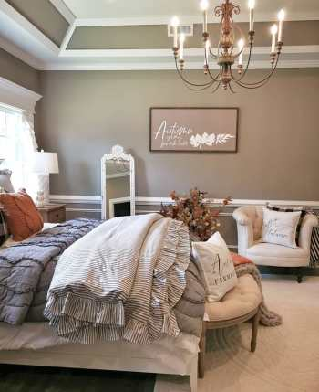 How to decorate bedroom with farmhouse style this fall 2