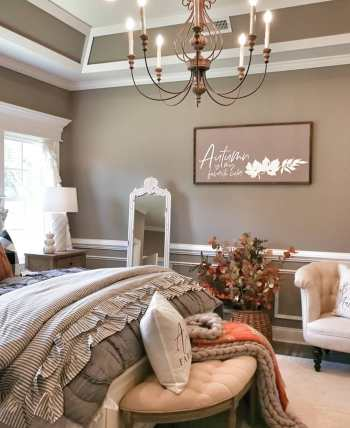 How to decorate bedroom with farmhouse style this fall 3