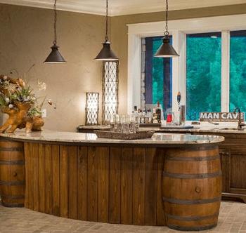 Kitchen furniture DIY Compelling Ways To Use Wine Barrels For Decoration