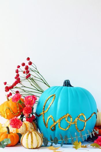 Pumpkin with desired sparkly look