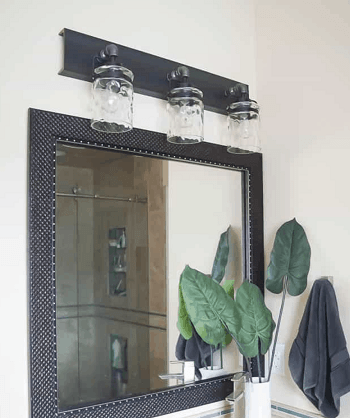 Vanity light fixture DIY Bathroom Light Fixture You Can Easily Create At Home