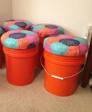Bucket seat Speechless DIY Ideas For Repurposing Five Gallon Buckets