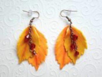 DIY Leaves Berry Fall Earrings