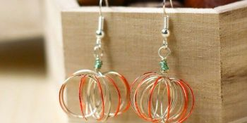 DIY Pumpkin Earrings