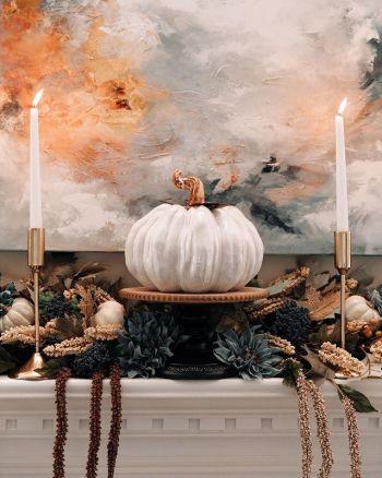 Posh pumpkins in the same color