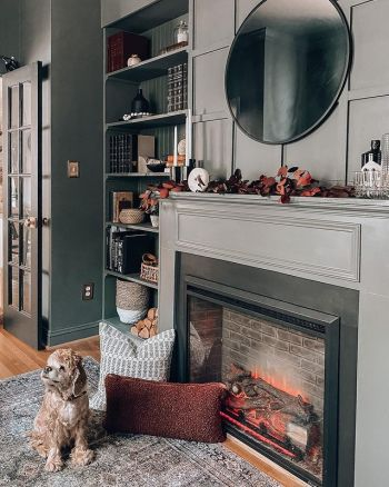 Simple mantel makeover for fall