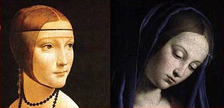 Images used in study; Secular to the left, Religious to the right