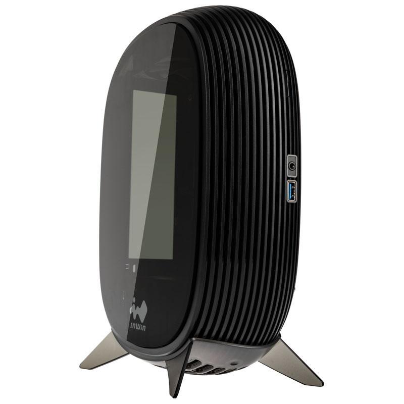 inwin b1 mini itx case alimentatore 200 watt vetro temperato nero
