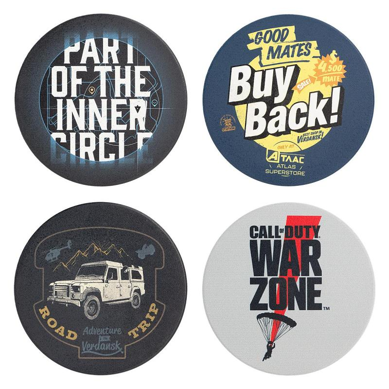 call of duty warzone set di sottobicchieri icons