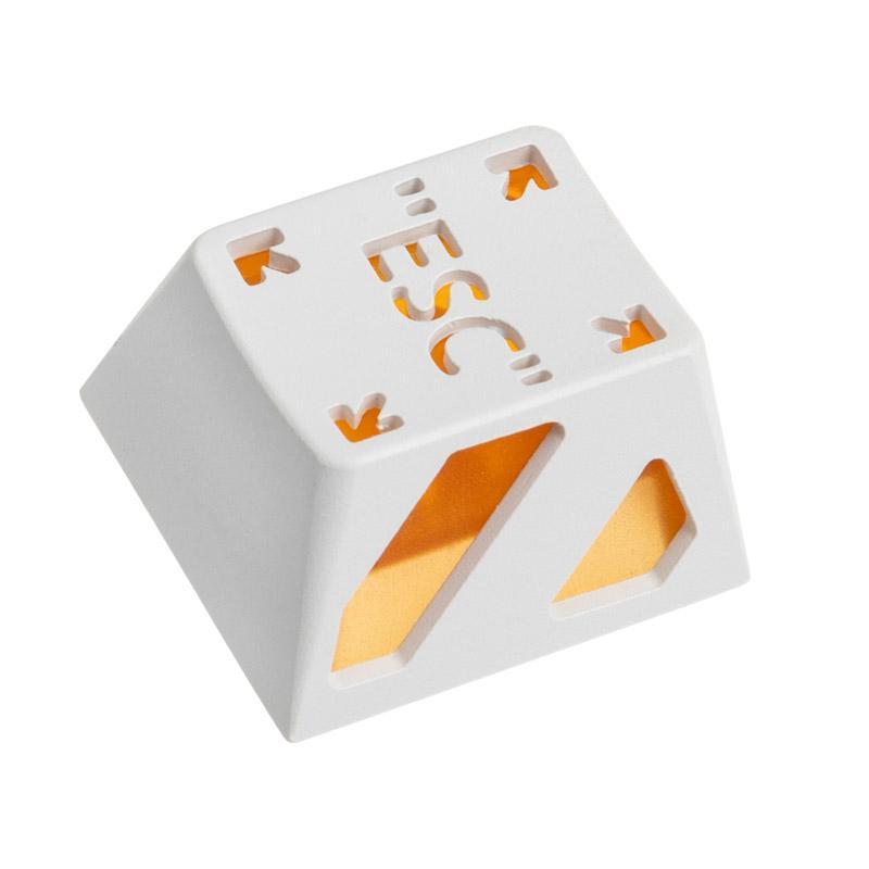 zomoplus keycap in alluminio esc bianco arancione