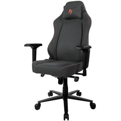 arozzi primo gaming chair tessuto da tappezzeria nera rossa