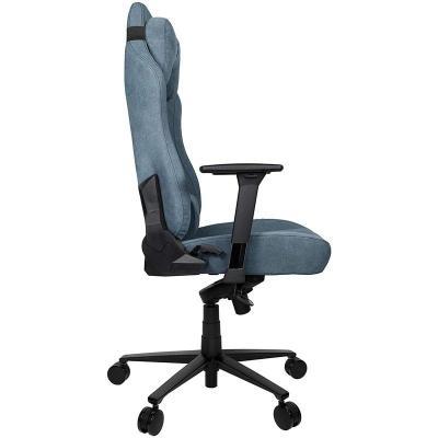 arozzi vernazza gaming chair tessuto da tappezzeria blu