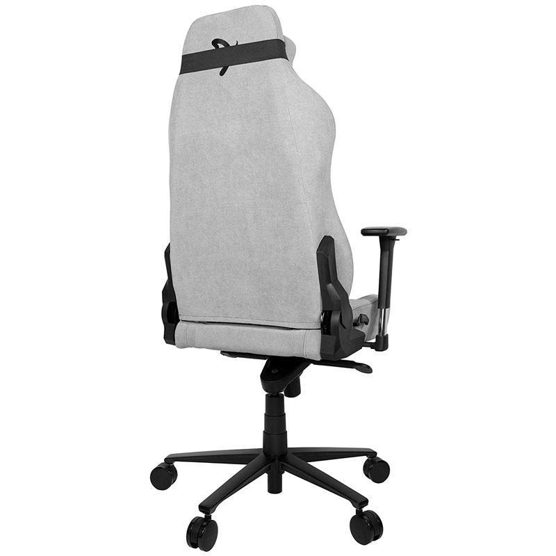 arozzi vernazza gaming chair tessuto da tappezzeria grigio chiaro