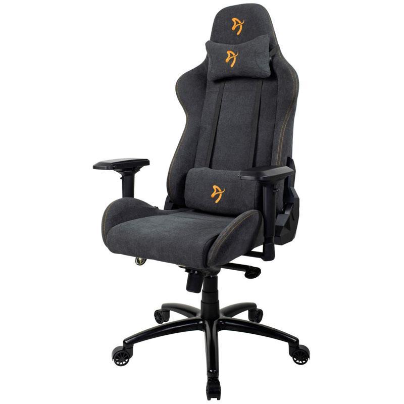 arozzi verona signature gaming chair tessuto da tappezzeria antracite oro