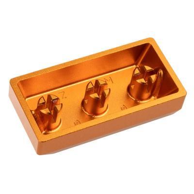zomoplus keycap in alluminio game over oro