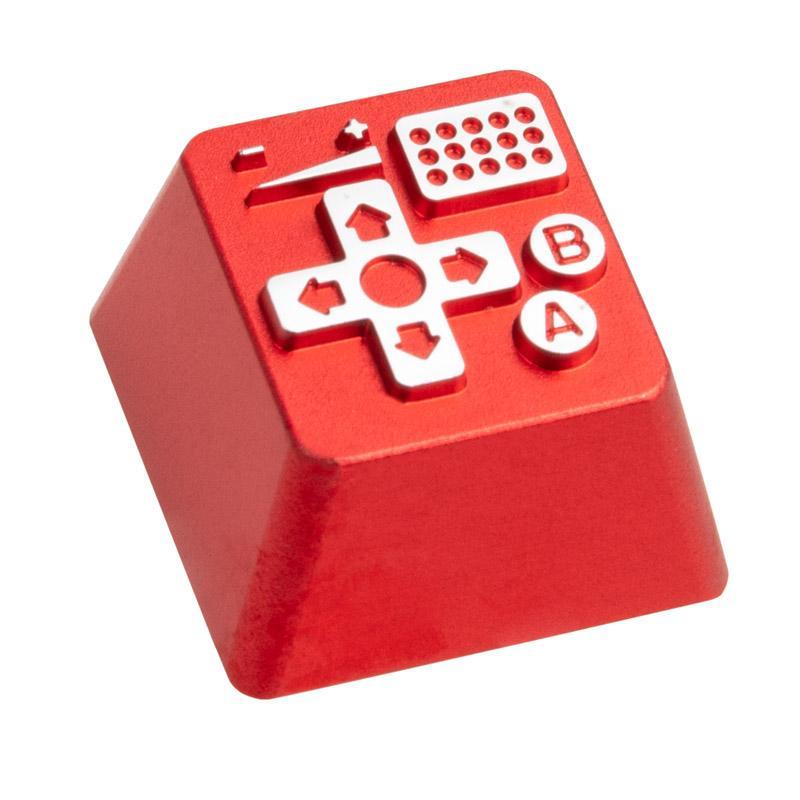 zomoplus keycap in alluminio retro gamepad i rosso