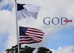 christian flag Amercian flag