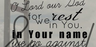 2 Chronicles 14:11 And Asa cried unto the LORD his God, and said, LORD, it is nothing with thee to help, whether with many, or with them that have no power: help us, O LORD our God; for we rest on thee, and in thy name we go against this multitude. O LORD, thou art our God; let not man prevail against thee.