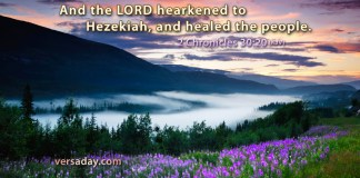 2 Chronicles 30:20 And the LORD hearkened to Hezekiah, and healed the people.