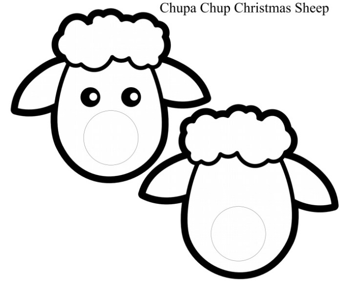 Christmas Sheep Craft Blank