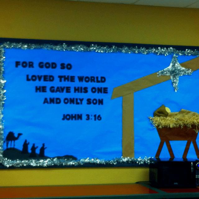 Christmas Bulletin Board 3 John 16 Godly Ladies